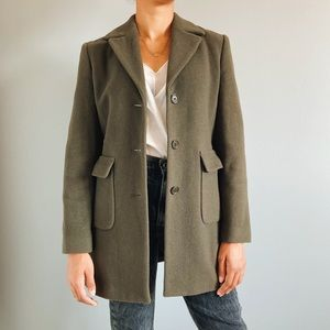 🍁 Olive Green ESPRIT Overcoat 🍂